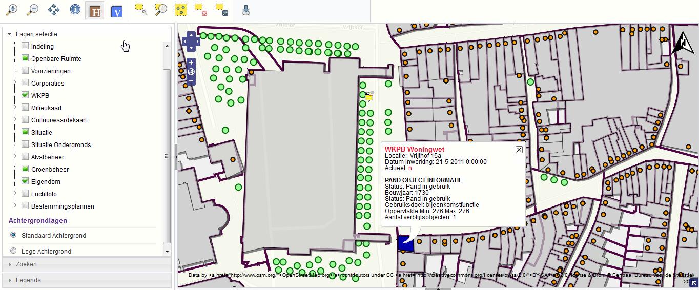 gemeente informatie in interactieve kaart